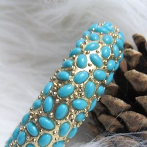 Brass And Beaded Bangle
